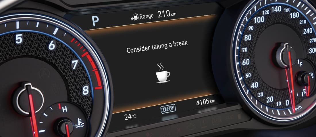 GENESIS G70 Safety Features - 운전자 주의 경고
